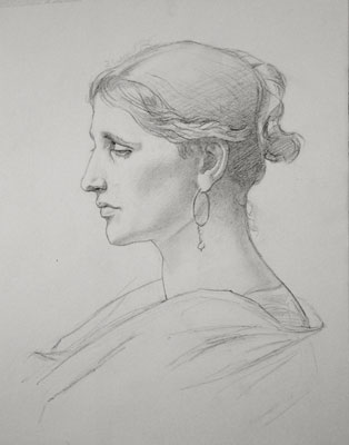 Copy of a Sargent drawing - Myra Hess