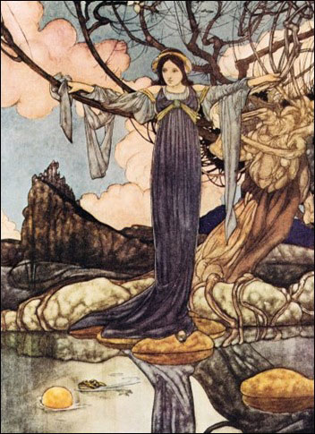 Illustration for the Big Book of Fairy Tales by Charles Robinson.
