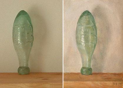 Green bottle sight-size