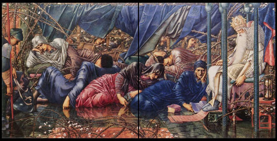 The Briar Rose: The Council Chamber - Burne-Jones.