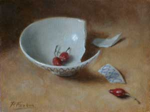 Broken Bowl and Rosehips