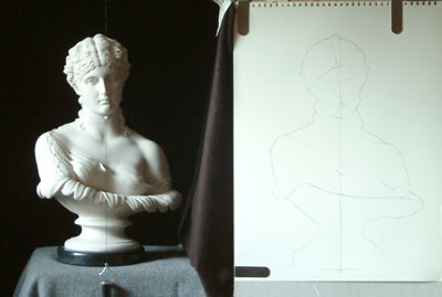 Clytie One, work in progress 4