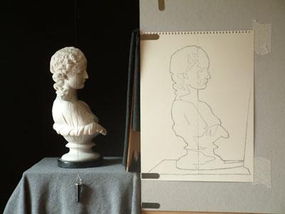Clytie Two, work in progress 2