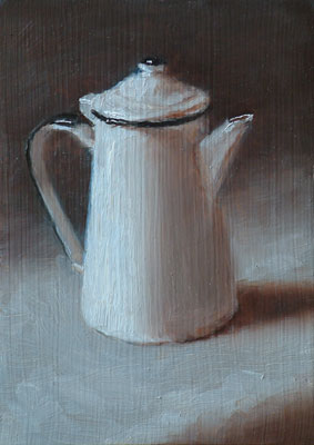 Still life study with coffee pot