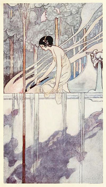 Illustration by Charles Robinson showing beautiful use of the compositional principles of opposition and transition.