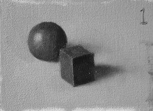 Munsell Value 1 cube and sphere