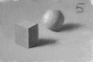 Munsell Value 5 cube and sphere