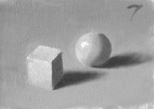 Munsell Value 7 cube and sphere