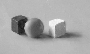 Cubes, sphere and cube