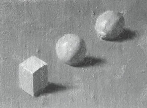 Cube, sphere and lemon - value 7
