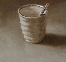 Japanese Cup and Teaspoon, A Still Life Value Study
