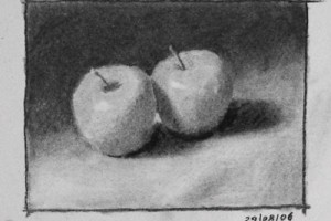 Still life Drawing Number Eight – Two Apples