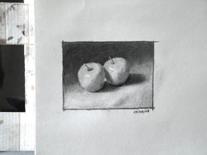apples, work in progress 9