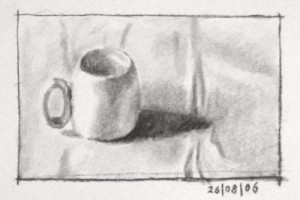 Still life Drawing Number Five – a Cappuccino Cup