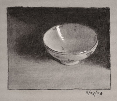 Still life drawing number twenty-three - chinese bowl