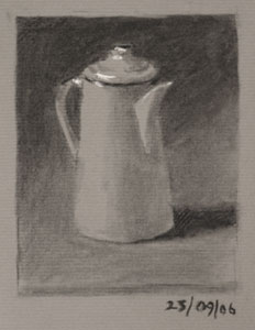 Still life drawing number Thirty - Coffee Pot Two