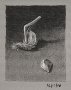 Still life drawing number Thirty-six - Garlic Cloves