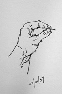 hand - quick sketch