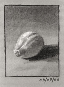 Still life drawing number fourteen - a lemon