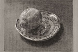 Lemon on a Saucer – Still life Drawing Number Thirty-five