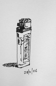 lighter - quick sketch