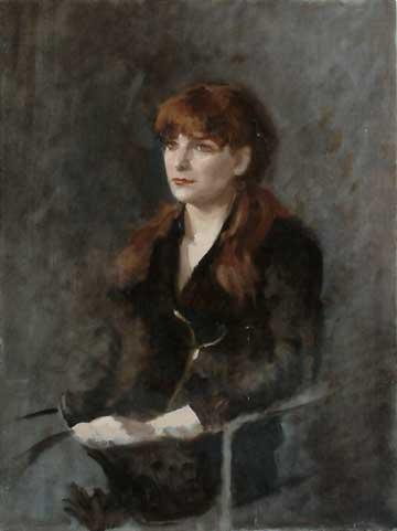 Portrait of Danielle, Oil on Canvas Panel