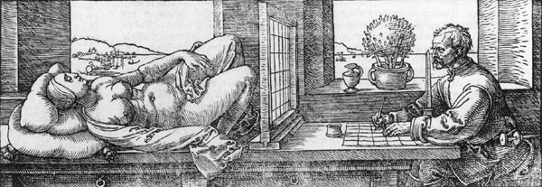 Durer drawing grid