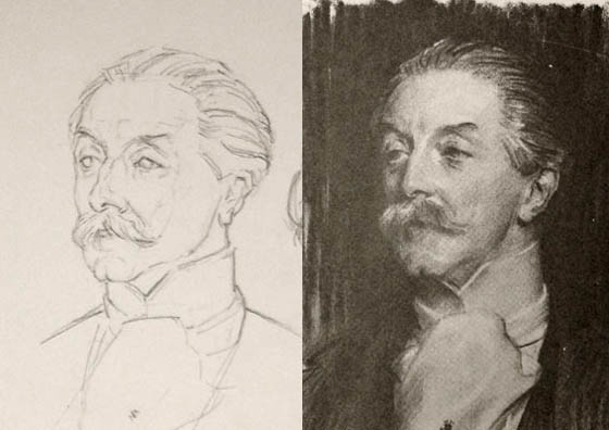 Sargent head drawing copy