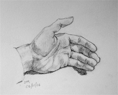 Hand drawing number one