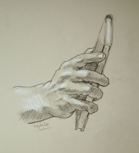 Hand drawing number ten