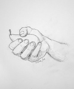 Hand drawing number Sixteen