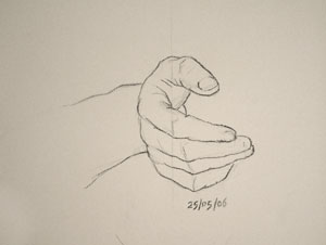 Hand drawing number Nineteen
