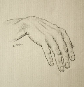 Hand drawing number four
