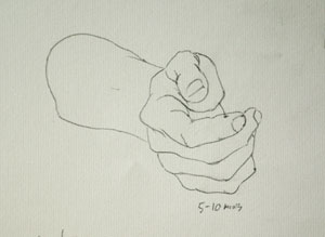 Hand drawing number seven