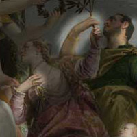 A section of Happy Union by Veronese, showing use of repeat shapes in the composition.