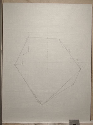 first stage of drawing out.