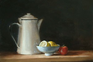 Still Life with Coffee Pot, Lemon, Bowl and Tomato