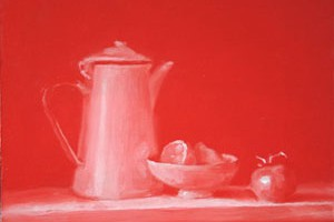 Blue and Red Still Life – Relative Tone Exercise