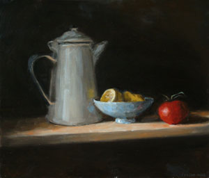 Still life with lemon and totmato - version 1