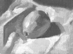 Lemon and white cloth - tone study