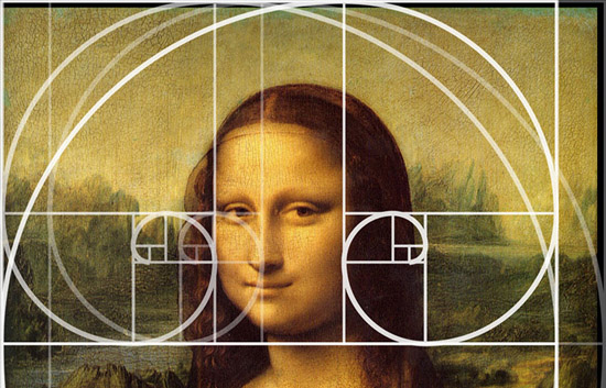 Ridiculous golden section overlay on the Mona Lisa