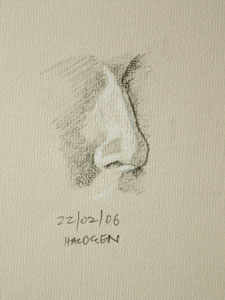 Nose drawing number seven