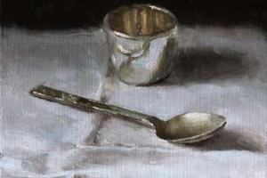 Still Life with Old Silver