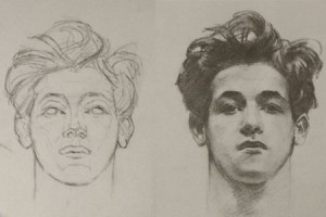 More Head Drawings – Planes and Form in Sargent Portrait Drawings