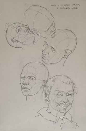 Head drawings