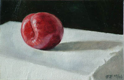 Still life of a plum.