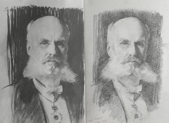 Copy of a Sargent drawing - William Bigelow