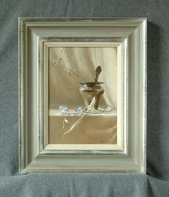 Silver Vase Framed