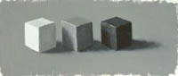 A thumbnail image of a value study of three cubes