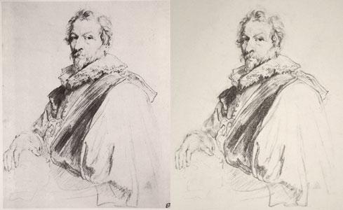 Van Dyck copy - side by side